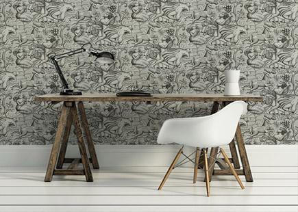 papier peint les meilleures boutiques en ligne nettement chic. Black Bedroom Furniture Sets. Home Design Ideas