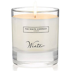Bougie 'Winter' sur The White Company