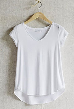 T-shirt blanc sur The White Company
